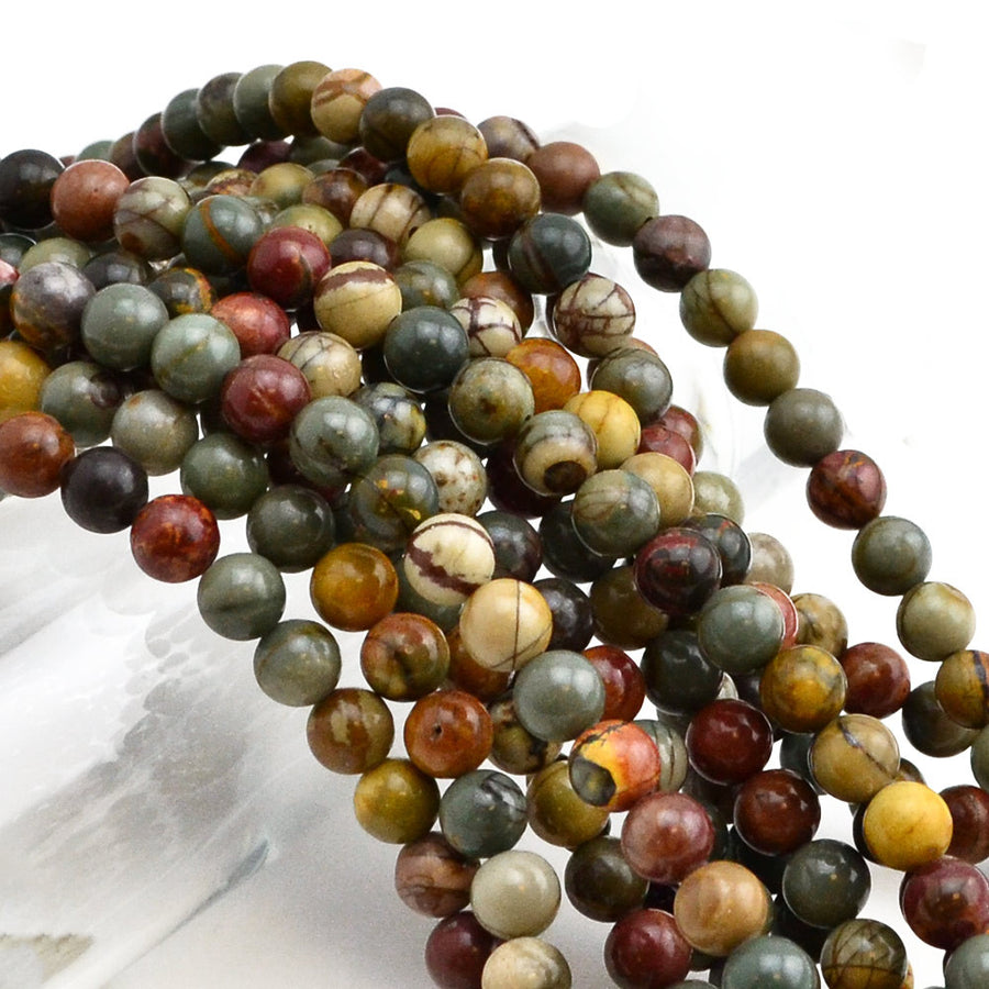 Appalachian Trail- 6mm , Gemstone - Dakota Stones, Beadshop.com