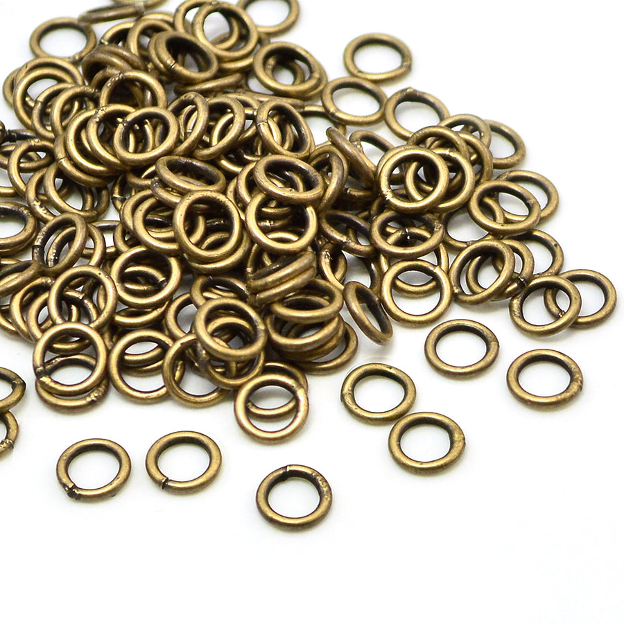 Antique Brass Soldered Jump Rings- 6mm/18G
