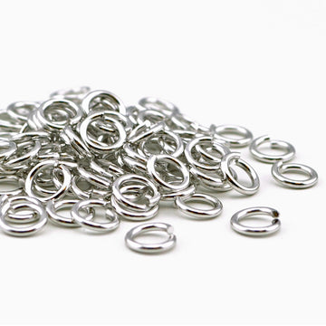 Antique Silver Jump Rings - 7mm/16g , Jump Rings - Tierracast, Beadshop.com