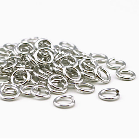 Antique Silver Jump Rings - 7mm/16g