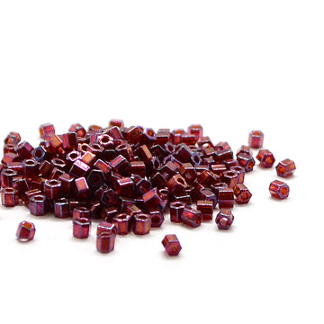 8C-313 Cut Cranberry Gold Luster