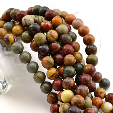 Appalachian Trail- 8mm , Gemstone - Dakota Stones, Beadshop.com
