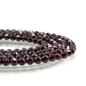 Faceted Garnet- 6mm