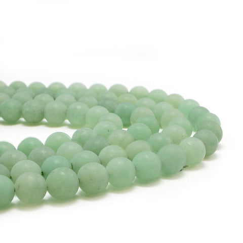 Matte Light Aventurine-8mm - Beadshop.com