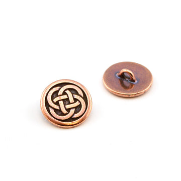Dubliner- Antique Copper , Buttons - Tierracast, Beadshop.com