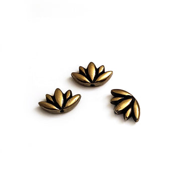 Lotus Bead- Antique Brass