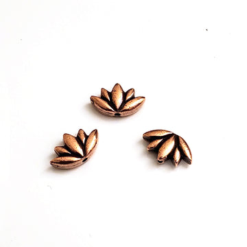 Lotus Bead- Antique Copper