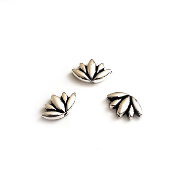 Lotus Bead- Antique Silver