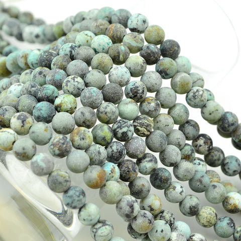 Matte African Turquoise- 6mm