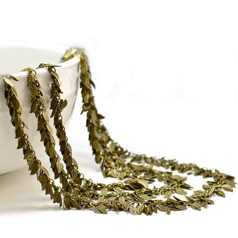 Leafy Chain- Antique Brass