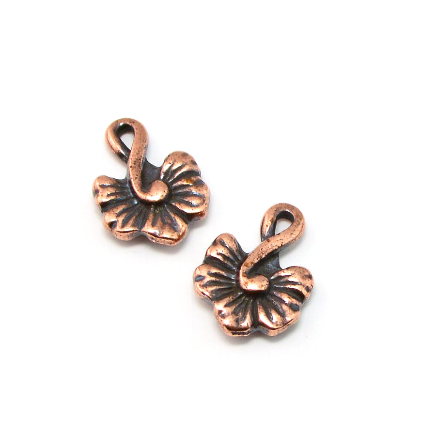 Hibiscus Drop- Antique Copper