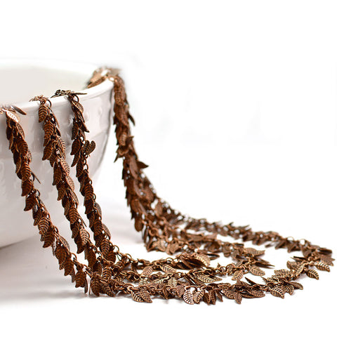 Leafy Chain- Antique Copper