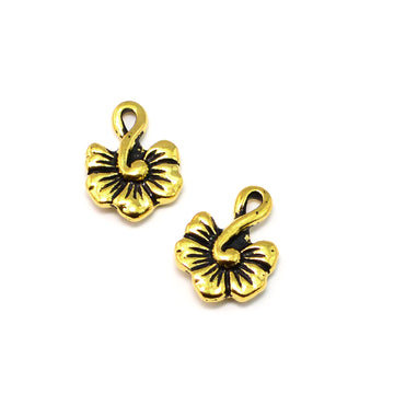 Hibiscus Drop- Antique Gold