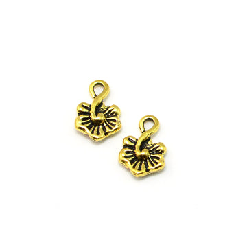 Little Hibiscus Drop- Antique Gold
