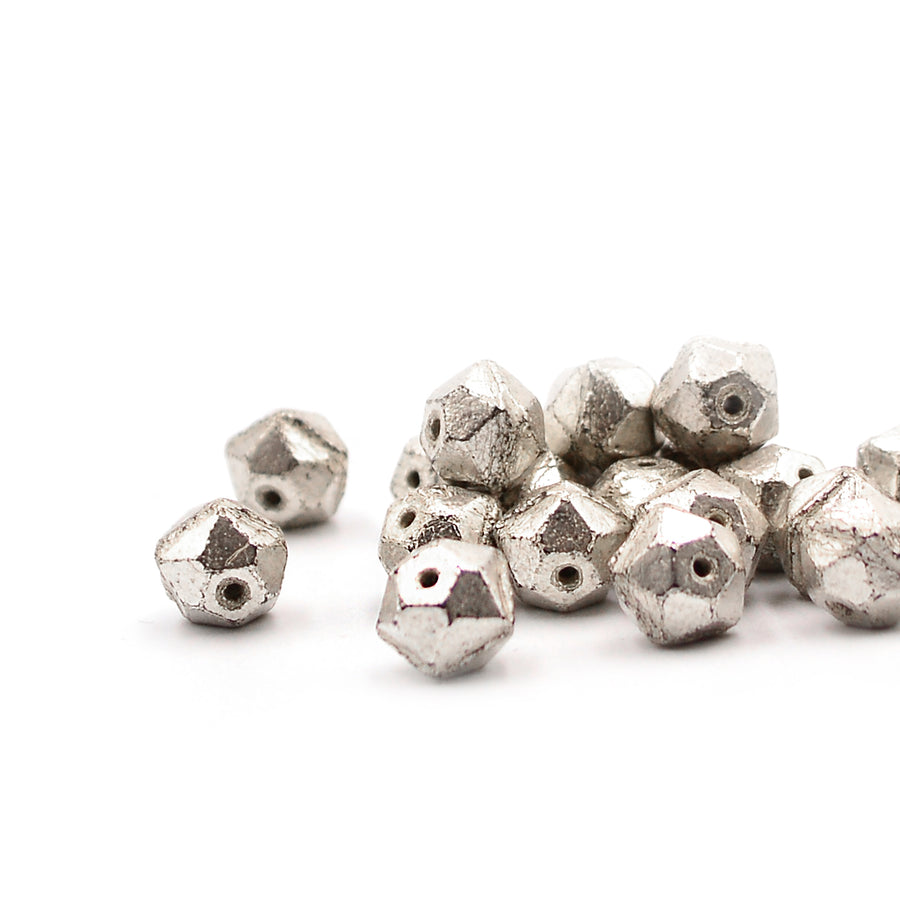 8mm English Cut- Antique Silver