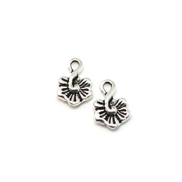 Little Hibiscus Drop- Antique Silver