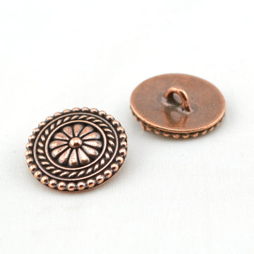 Bali Button- Copper , Buttons - Tierracast, Beadshop.com