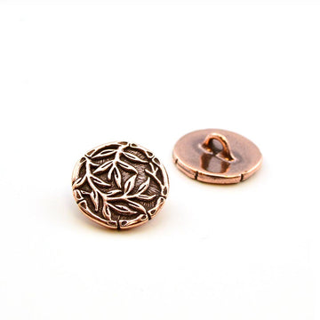 Bamboo Silhouette- Antique Copper , Buttons - Tierracast, Beadshop.com