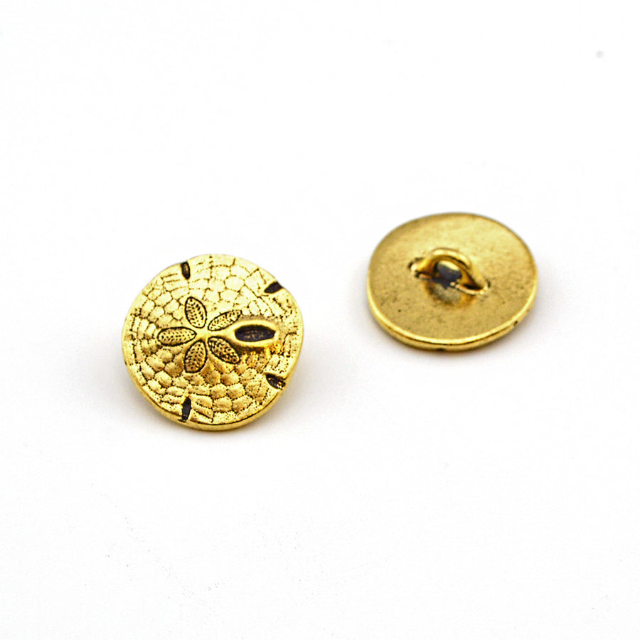 Beachcomber- Gold , Buttons - Tierracast, Beadshop.com