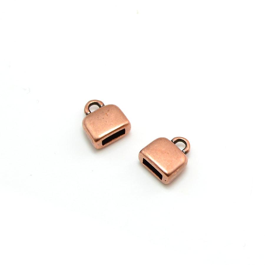 Rounded Loop End- Antique Copper
