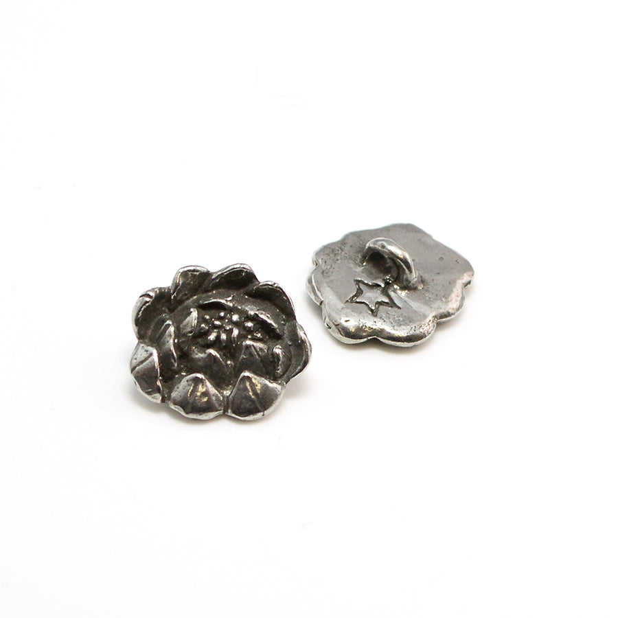 Small Rose- Pewter - Beadshop.com