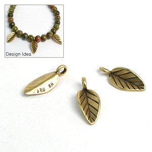 Falling- Brass , Charms - JBB International, Beadshop.com
