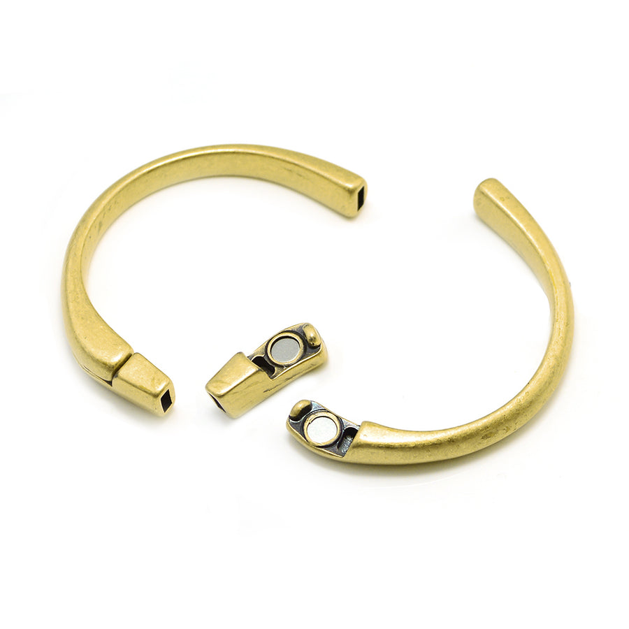 Half Circle Magnetic Clasp- Antique Brass