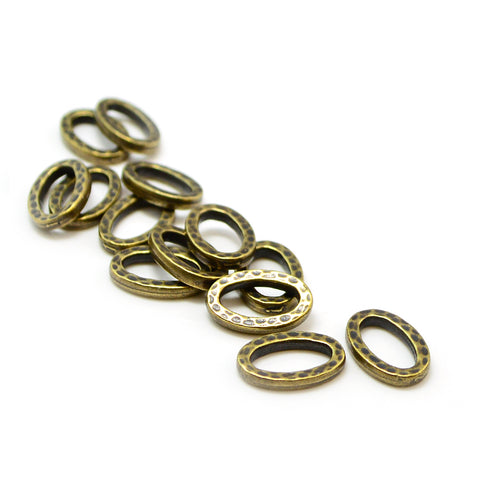 Small Hammertone Ring- Antique Brass