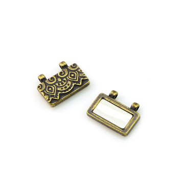 Temple Clasp- Antique Brass