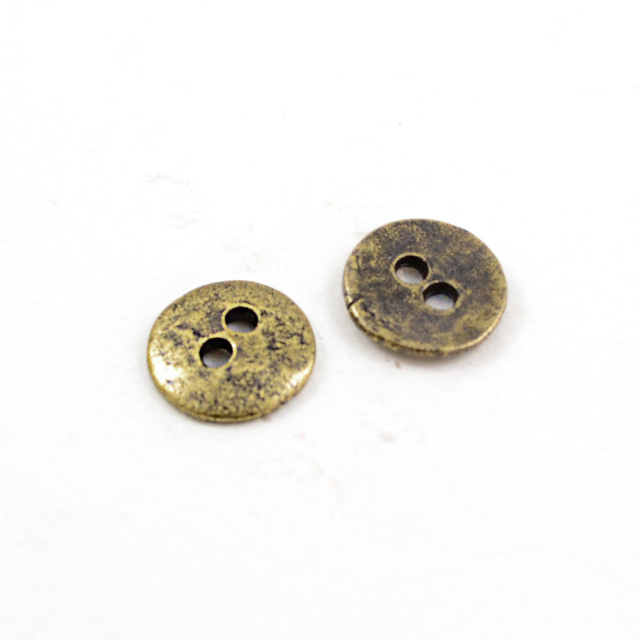 Button Eyes- Brass , Buttons - Continental, Beadshop.com