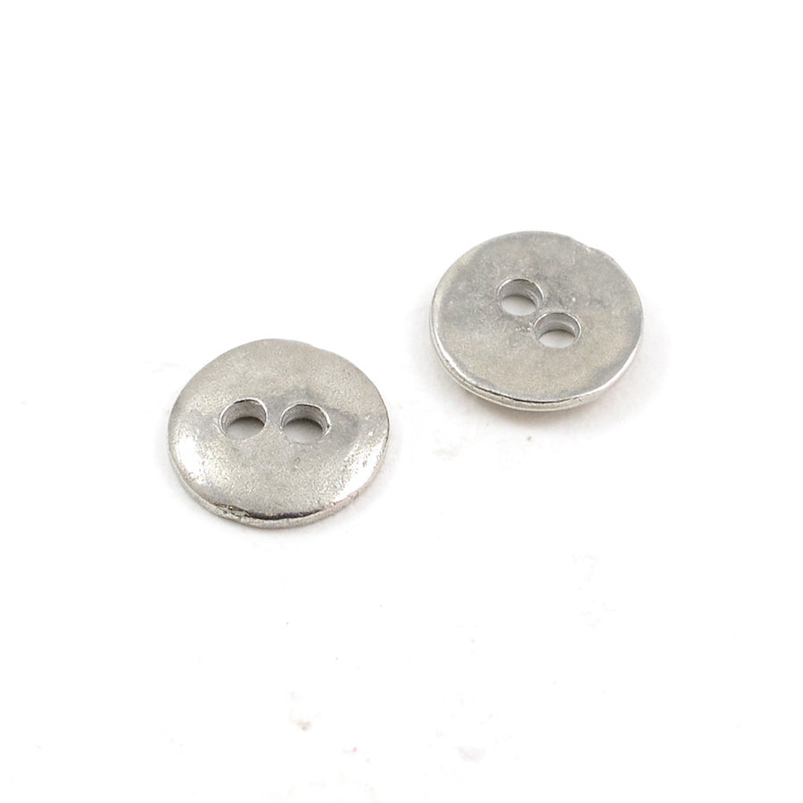 Button Eyes- Silver , Buttons - Continental, Beadshop.com