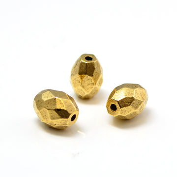 Faceted Barrel- Antique Gold