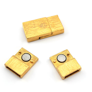 Hand in Hand- Gold , Clasps - Leathercord USA, Beadshop.com