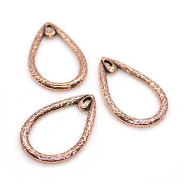 Hammered Teardrops- Ant. Copper