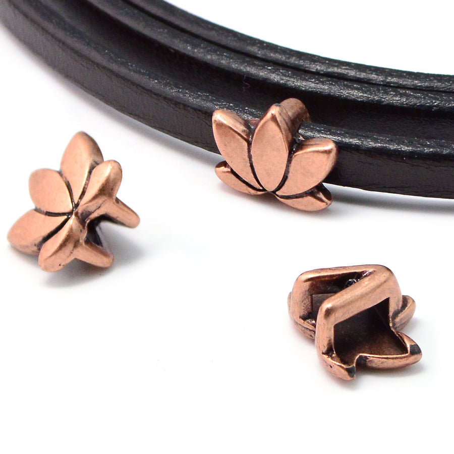 Open Blossom- Antique Copper