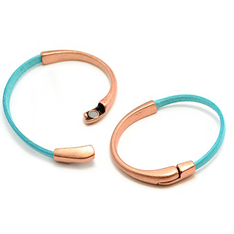 Half Circle Magnetic Clasp- Antique Copper
