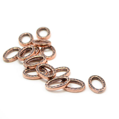 Small Hammertone Ring- Antique Copper