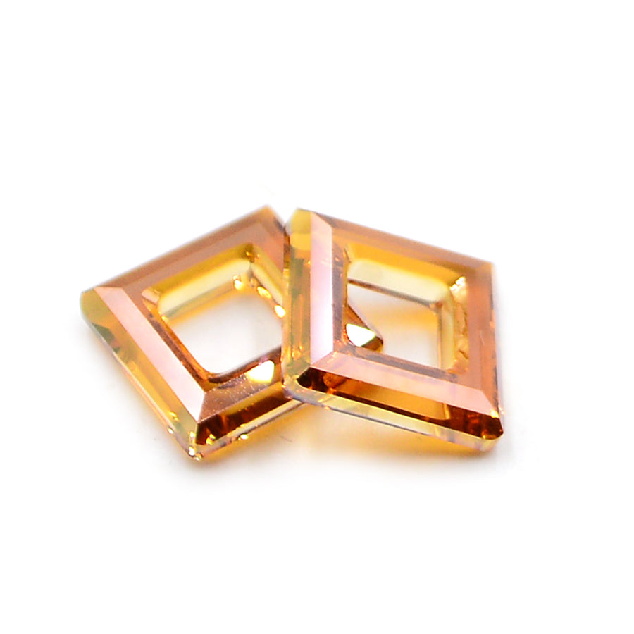 Swarovski 4439,Square Ring- Crystal Copper