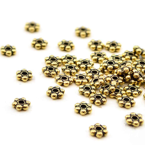 Tierra Daisy Spacer - Gold