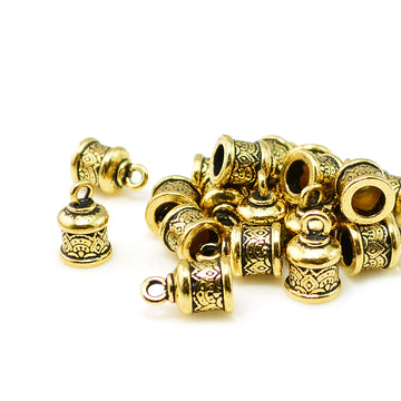 Temple Cap, 6mm- Antique Gold