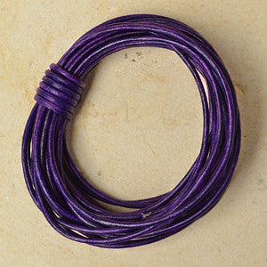 Distressed Violet- Indian 1.5mm , Leather - Leathercord USA, Beadshop.com