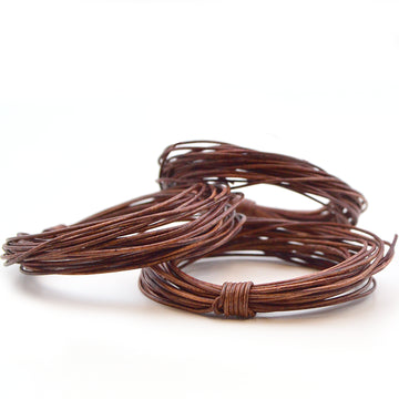 Distressed Brown- .5mm Indian , Leather - Leathercord USA, Beadshop.com - 2