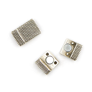 Flat Dots Clasp 10- Silver