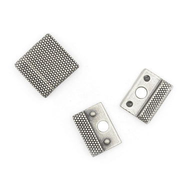 Flat Dots Clasp 20- Silver