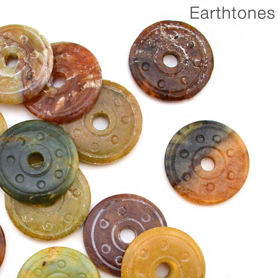 Perfect Pi- Serpentine Earthtones earthtones, Vintage Finds - All Seasons, Beadshop.com