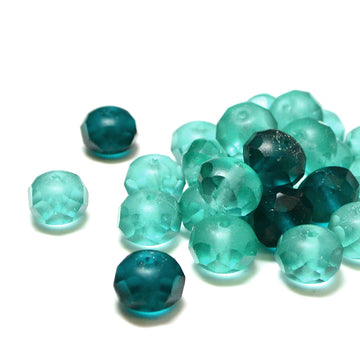 8mm Rondelles- Emerald Matte Mix - Beadshop.com