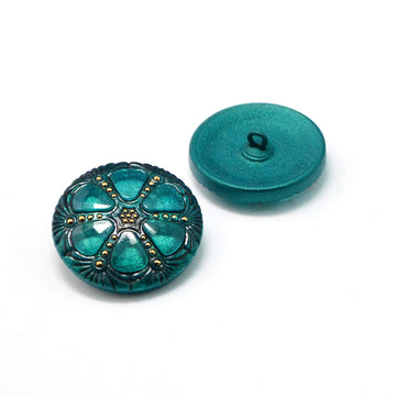 Wheel- Teal with Gold