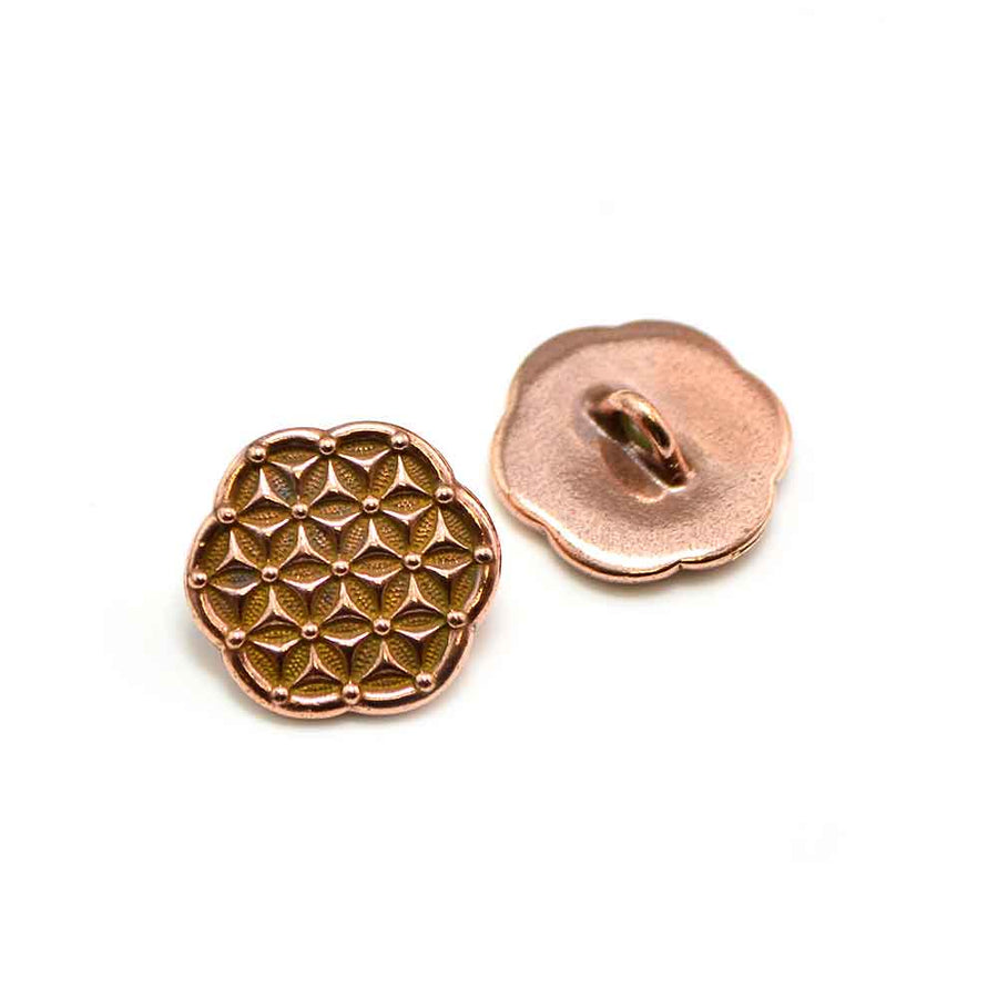 Flower of Life- Antique Copper