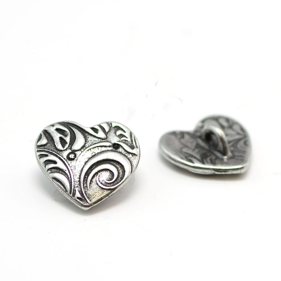Follow your Heart- Antique Silver