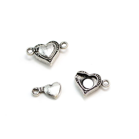 Full Heart- Antique Silver